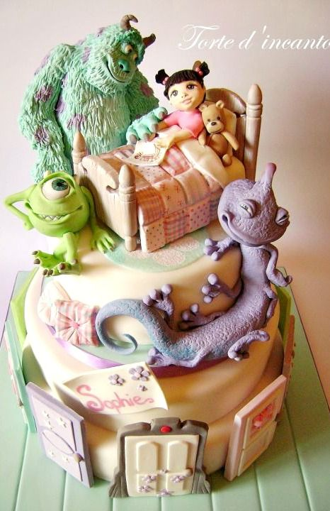 AMAZING Monsters Inc. Cake. Kitty! #coupon code nicesup123 gets 25% off at Provestra.com Skinception.com