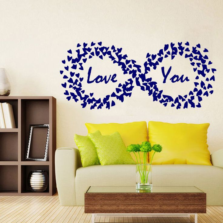 Wall Decals Love You Hearts Valentine's Day Art Vinyl Sticker Decal Decor KG709