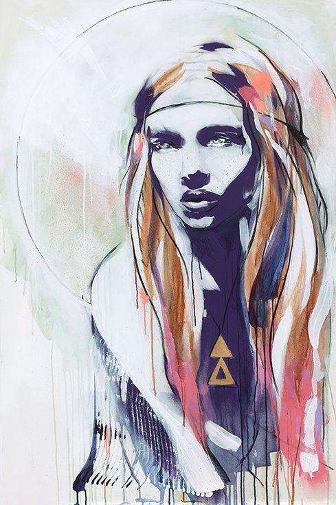 Artfinder Wild Rose By Hannah Adamaszek - Painting -7463