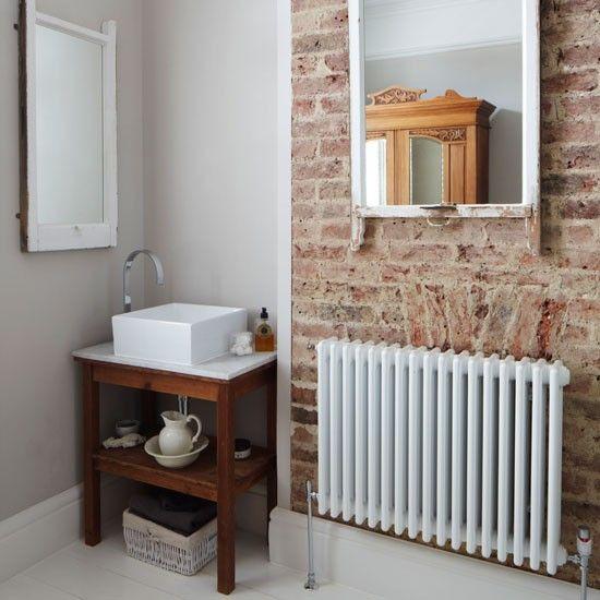 Kleine rustikale Badezimmer Wohnideen Badezimmer Living Ideas Bathroom