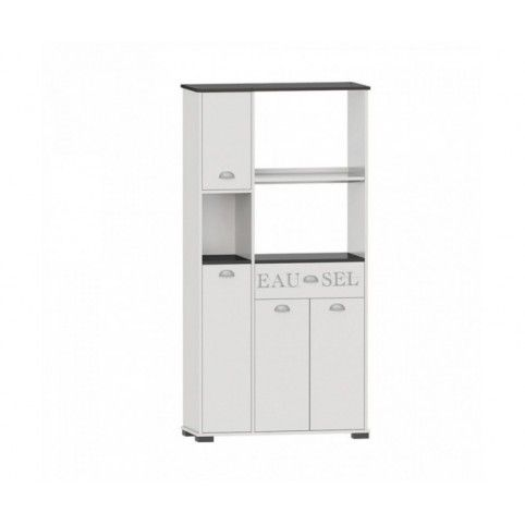 Buffet microondas 4 puertas y 1 cajón. Medidas: 900x400x1800.