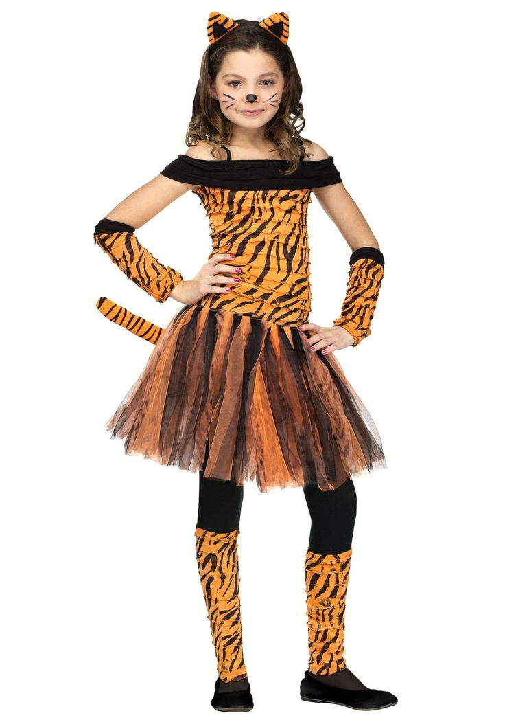 This Girls Tigress Costume is a cute animal costume for young girls to wear. You'll feel fur-ocious in this wild tutu costume!