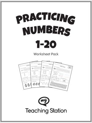 **FREE** Practicing Numbers 1-20 Worksheet Pack Worksheet. This worksheet pack will help your child practice counting, identifying, tracing, and writing numbers 1-20.