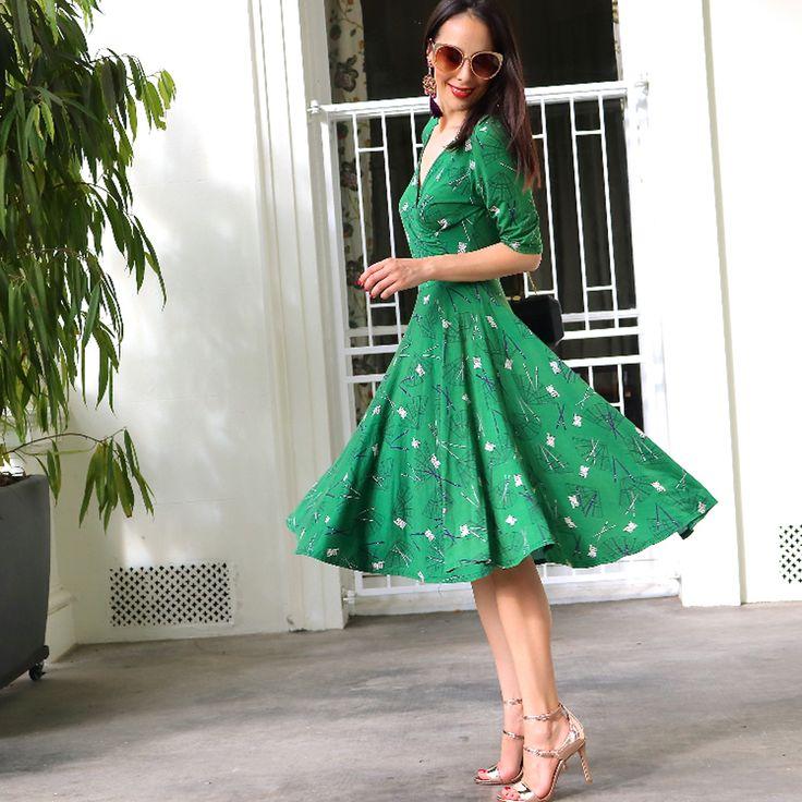 Lucky in Love Dress in Green