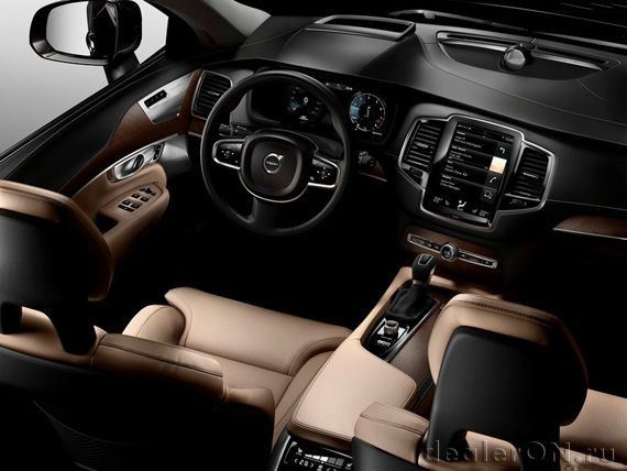 Интерьер кроссовера Вольво ХС90 2015 / Volvo XC90