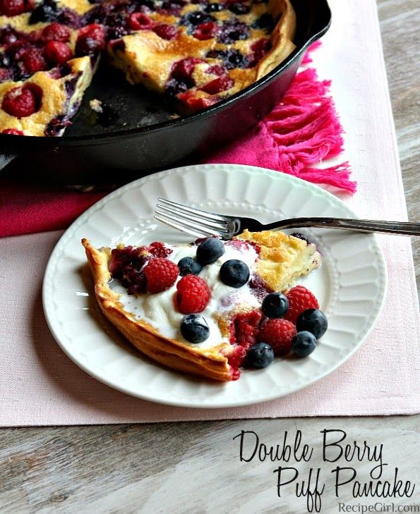 DOUBLE BERRY PUFF PANCAKE ~ Best Recipe Photos