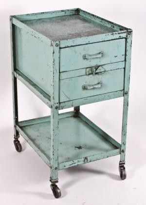 vintage c. 1930's modular metal drawer cabinet or machine shop