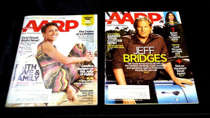 Senior celebrities! AARP ROBIN ROBERTS JEFF BRIDGES CHER HEALTH CARE DONALD TRUMP SOCIAL SECURITY TRAVEL - on eBay! $4.98