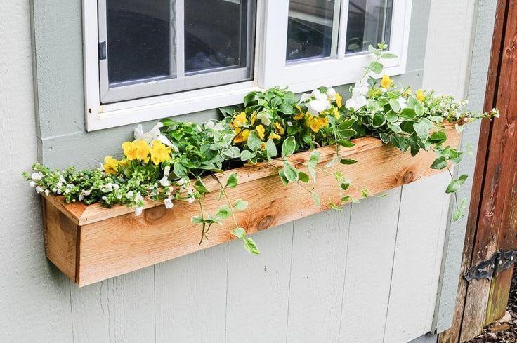 Easy 15 fixer upper style diy cedar window boxes window