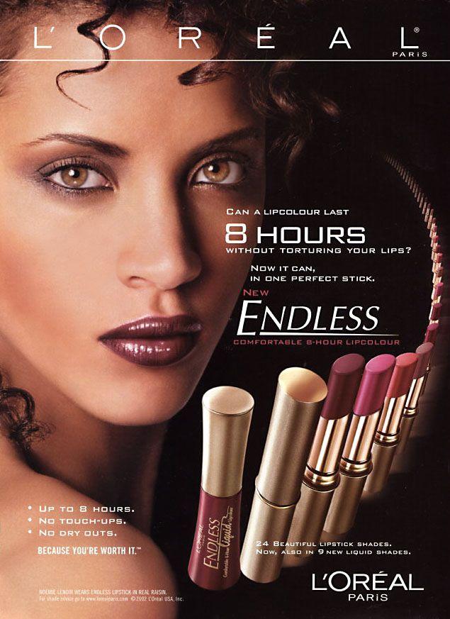 L'Oréal Paris Cosmetic Advertising with Noemie Lenoir