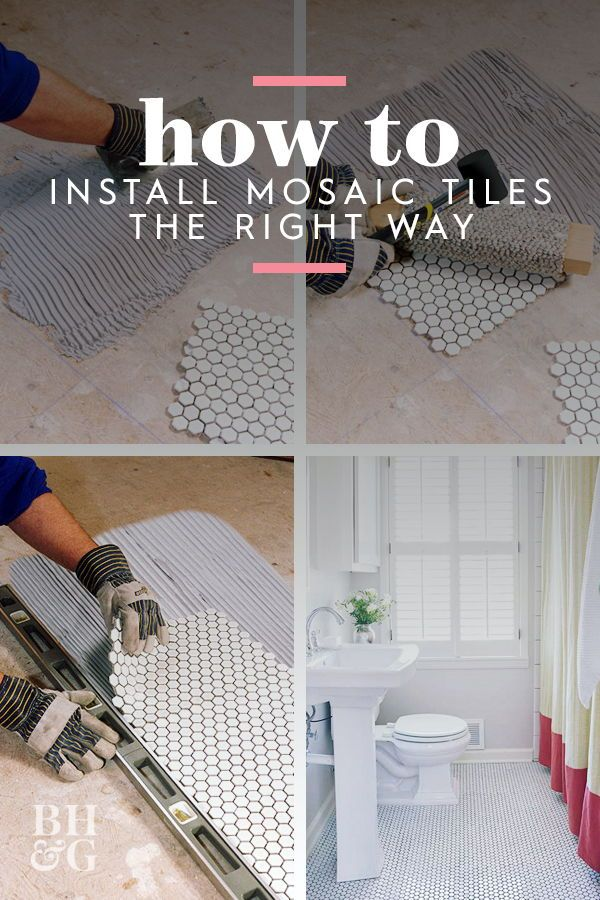 How To Install Mosaic Tile Mosaic Tiles How To Lay Tile Tile