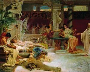 Socrates Finds his Student Alcviad at Heterai - Henryk Siemiradzki