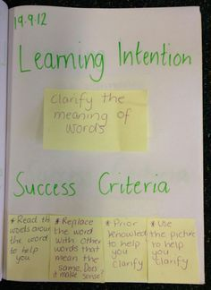 Image result for success criteria examples