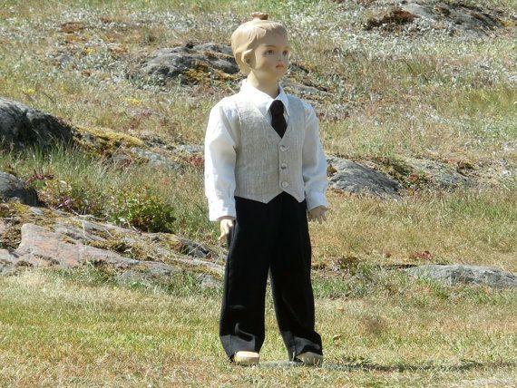 Boys formal wear. Rustic ring bearer outfit. by englaCharlottaShop