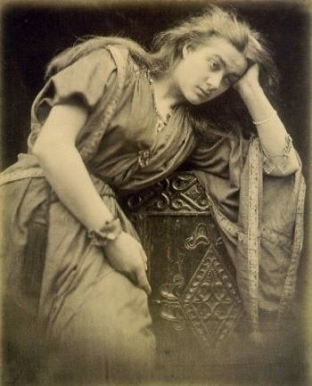 "Julia Margaret Cameron ""Mariana: 'She said I am aweary, aweary, I would that I were dead',"" 1875"