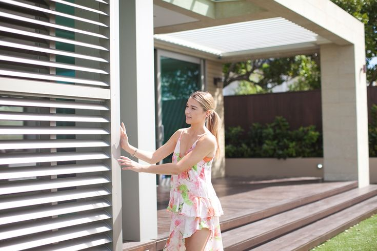 Perfect shade control Louvretec shutters for outdoor alfresco areas