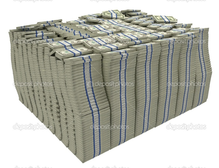 Stacks Of Money | Much money. Large stack of US dollars | Stock Photo © Arsenii ...