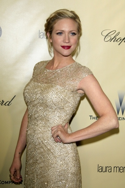 Brittany Snow arrives at the 2013 Weinstein Post Golden Globe Party at Beverly Hilton Hotel on January 13, 2013 in Beverly Hills