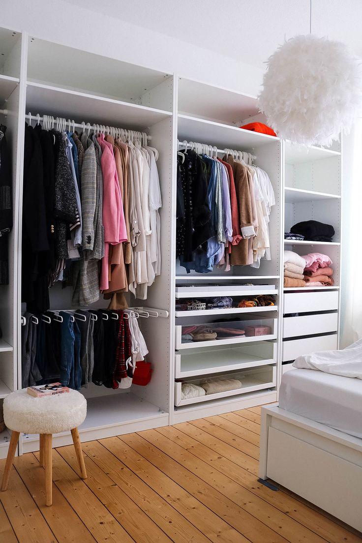 flat home interior ikea pax kleiderschrank inspo wohnung