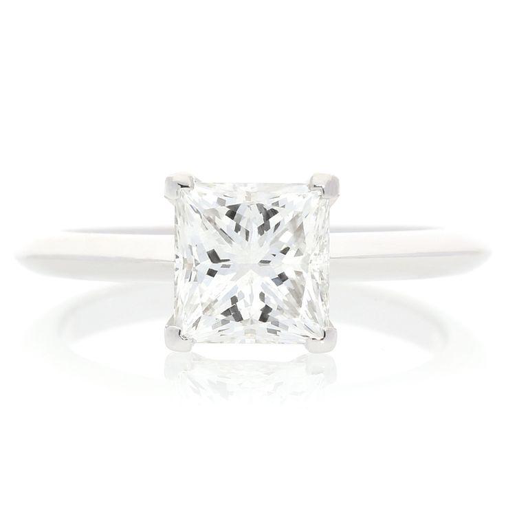Platinum Diamond Solitaire Ring For Sale by Uwe Koetter.    www.uwekoetter.com