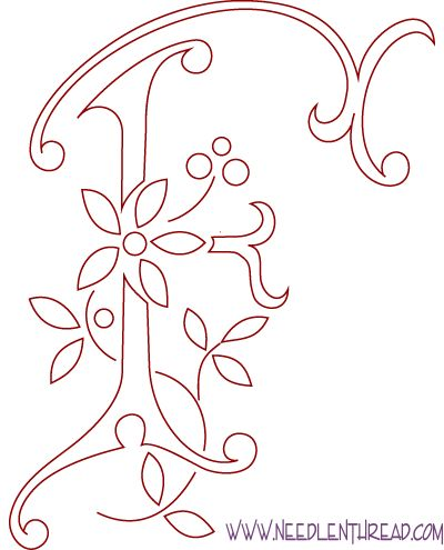 Whole Alphabet of Free Monogram Patterns: Great for transferring onto Canvas or other craft surfaces/ projects