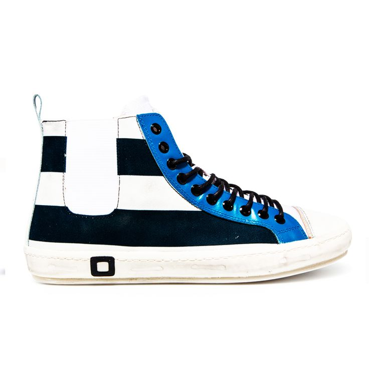 Spring Summer 2015 D.A.T.E. Sneakers Collection / Italian design/ Santos High Stripes Black:http://bit.ly/1bQHmov