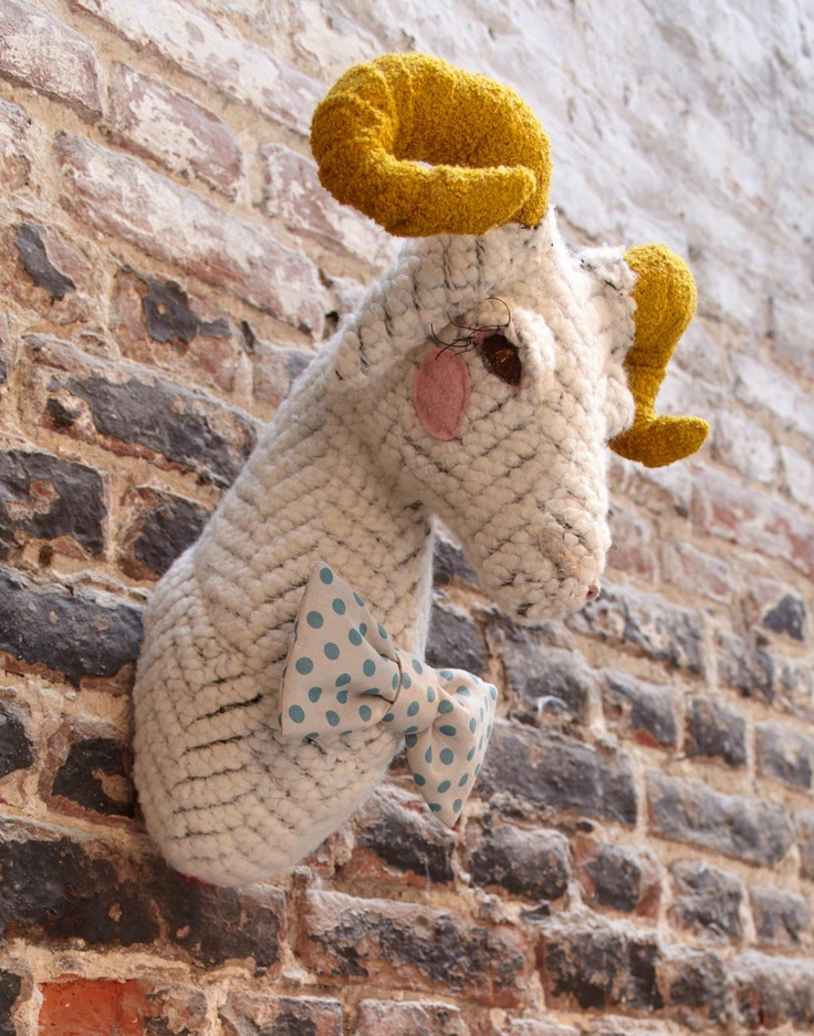 Nothing says classy like crochet taxidermy. I seriously might do this.