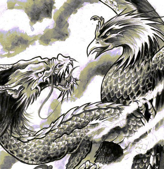 1000 images about japanese tattoo on pinterest - Dessin dragon japonais ...