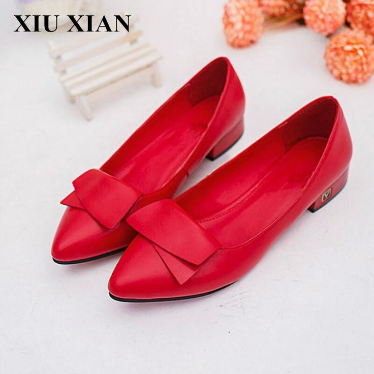 12.87$  Watch here - http://alin95.shopchina.info/1/go.php?t=32798374328 - 2017 Spring Autumn Women Red Pointed Toe Flats Shoes Comfortable Ballet Flats Ladies Low Heel Loafers Shoes Solid Zapatos Mujer 12.87$ #buyonline