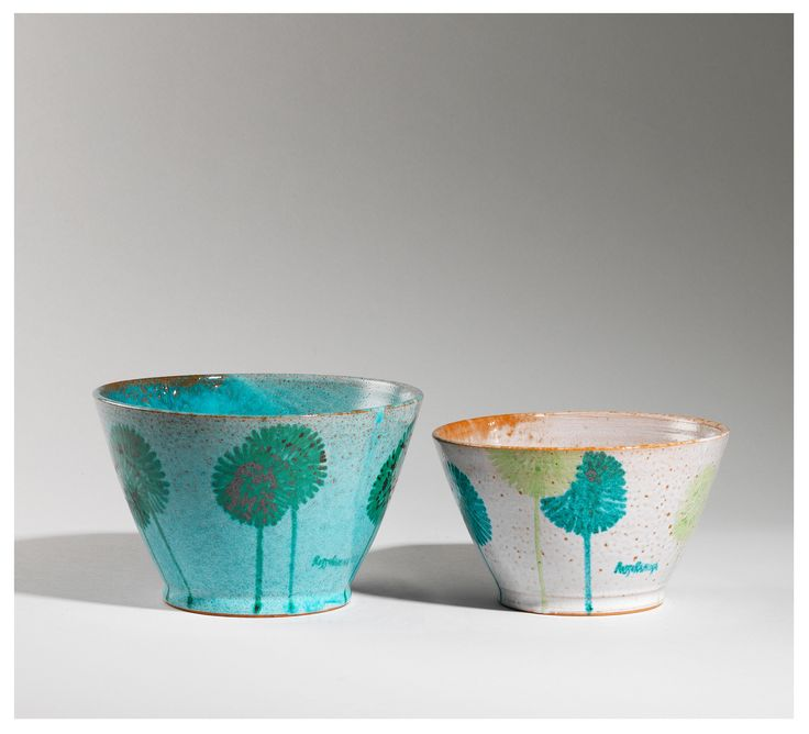 #kitchen set of two #saladbowls made by hand, colorful and vibrant in perfect #Tuscanstyle