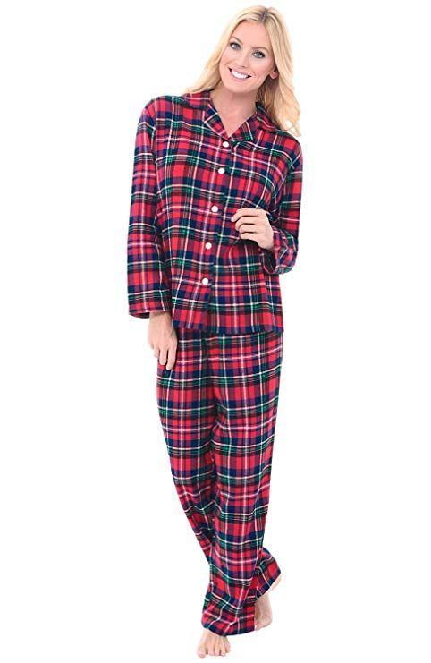 Alexander Del Rossa Womens Plaid Flannel Pajamas c1d306bfe