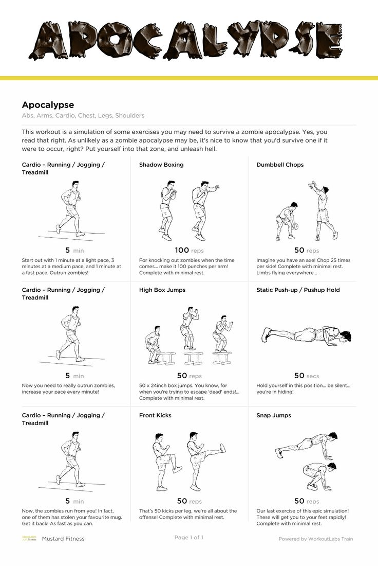 The Weekly Mustard Workout is here!  This workout is a simulation of some exercises you may need to survive a zombie apocalypse. Yes, you read that right. As unlikely as a zombie apocalypse may be, it's nice to know that you'd survive one if it were to occur, right? Put yourself into that zone, and unleash hell. #mustardfitness #freeworkout #freeonlinefitnesscoaching #apocalypse #zombie #zombieapocalypse #wod #wod2017 #getfit #healthybody #zombiefit #workoutplatform #weeklymustardworkout