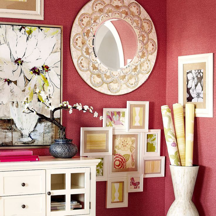 Pearl & Gold Round Mirror | Pier 1 Imports