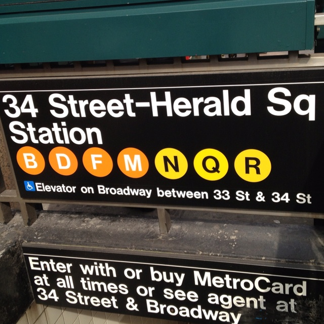 Herald Square subway entrance sign