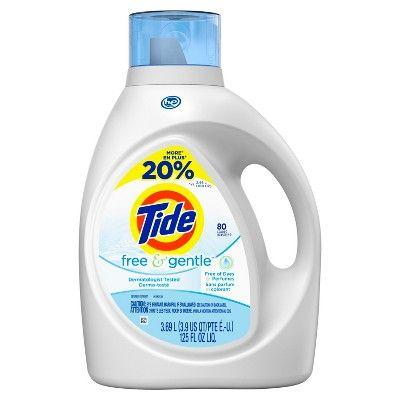 Tide Free Gentle High Efficiency Liquid Laundry Detergent 125