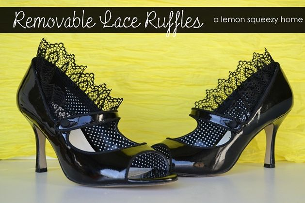 I do not love the shoes shown in this picture, but I do have very cute shoes i would love to try this with... How-To: Removable Lace Ruffle Shoe Refashion: Lace Ruffles, Diy Fashion, Diy Removal, Refashion Tutorials, Refashion Ideas, Lace Shoes, Removal Lace, Ruffles Shoes, Shoes Refashion