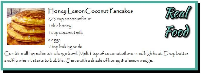 Honey Lemon Coconut Pancakes