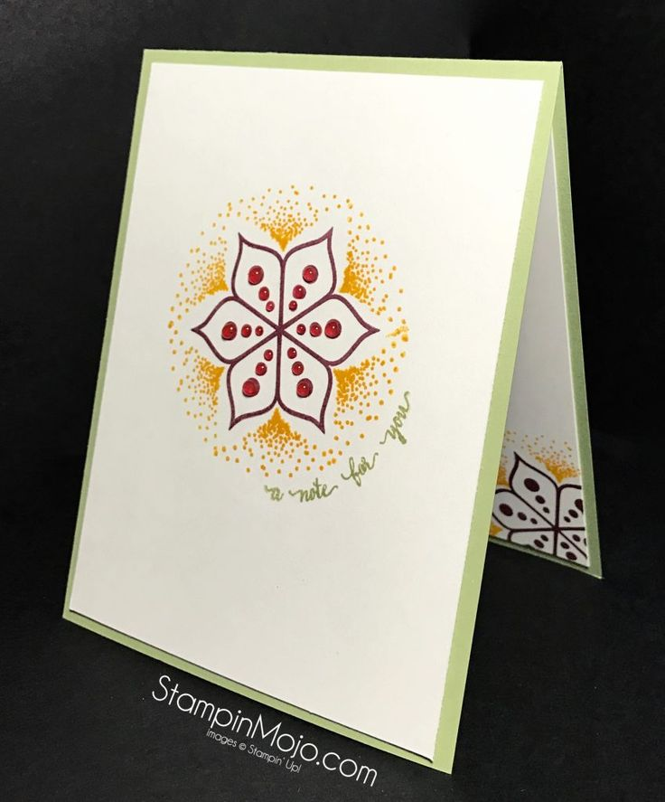 I LOVE this new stamp set. It is called Eastern Beauty. It has coordinating diescalled Eastern Medallion Thinlits. You will swoonfor these as well. Here is the stamp set: At first you might be underwhelmed but look at how I used the three dots, the spray of dots and the flower to create the unique design for this card. And the fonts are fabulous!I had so much fun playing with the different elements to create… Continue reading