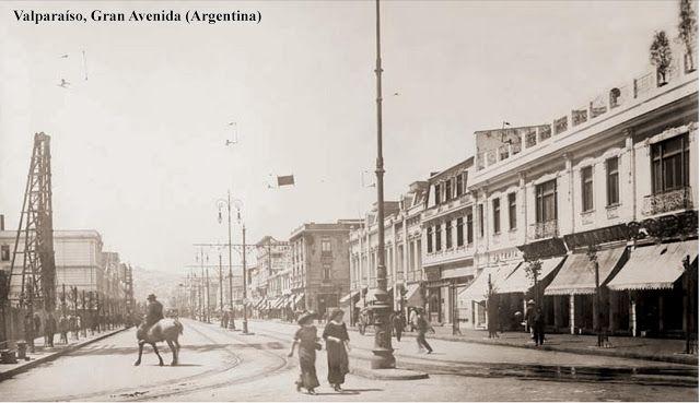 Actual Avda. Argentina Fuente: Imágenes de Chile del 1900   XXX
