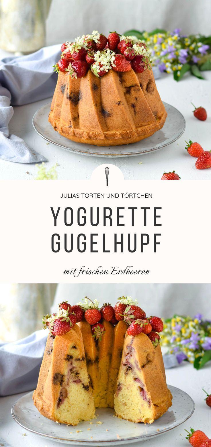 YOGURETTE GUGELHUPF mit frischen Erdbeeren