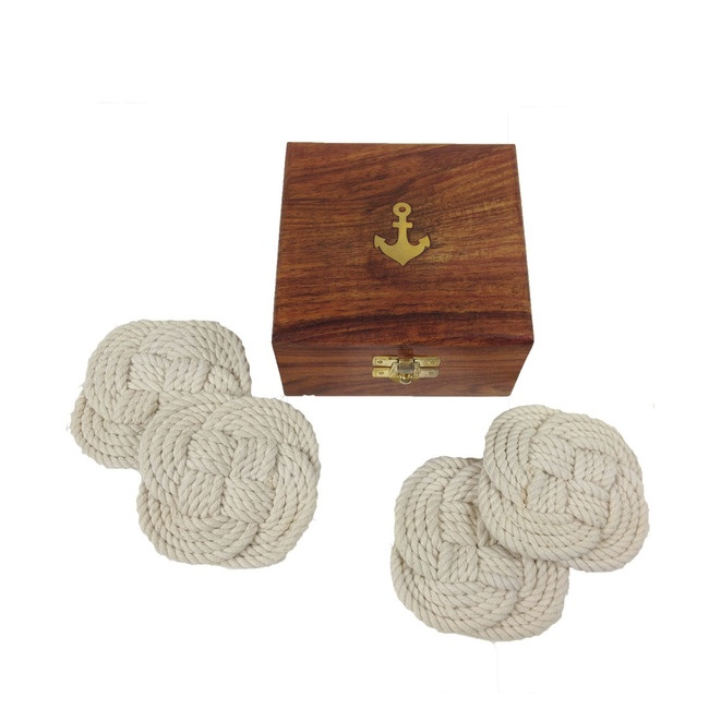 Nautical coasters - thought of you, @Alicia Rentsch! From @Furbish Studio