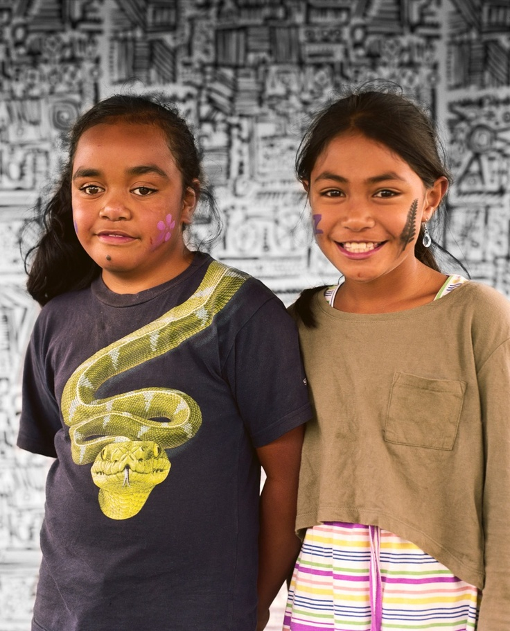 Edith Amituanai, Young girls from the Riserra Drive Neighbours' Street Party, 2013, from Ranui 135