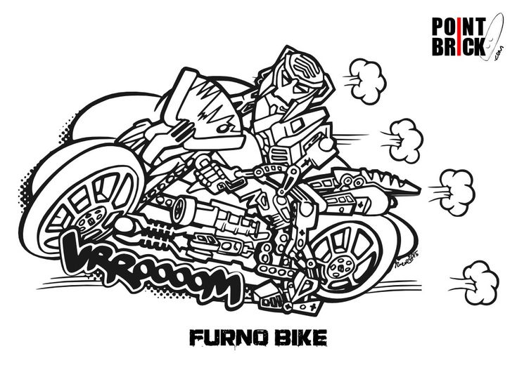 lego motorcycle coloring pages-#22