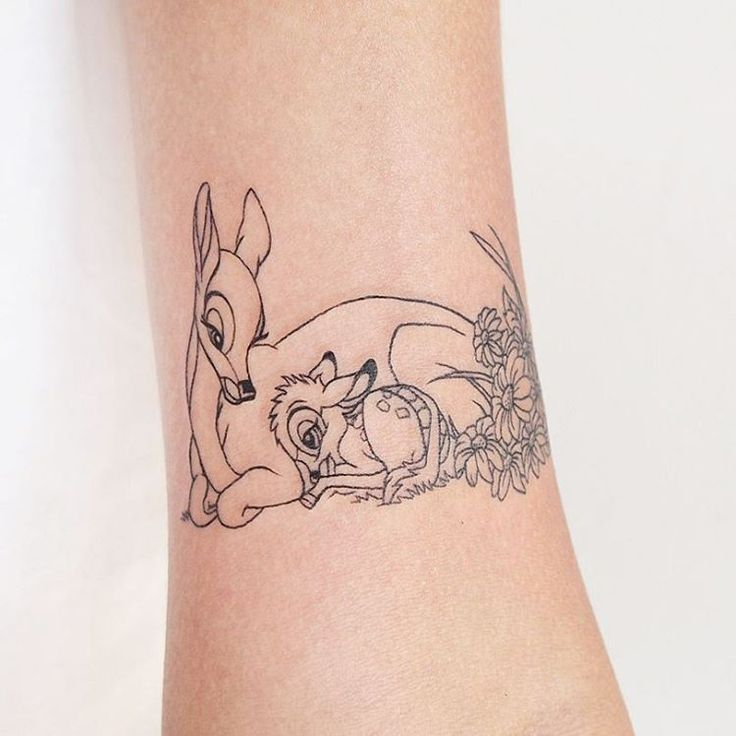 Bambi tattoo for Erin! So cute! ❤ #tattoo #tattoos #tattoosofinstagram #tattoosofig #disneytattoo #bambitattoo #bambi #cutetattoo #girlytattoo #disneyink #tattoopeople #tattoopeopletoronto #torontotattoo #torontotattooartist