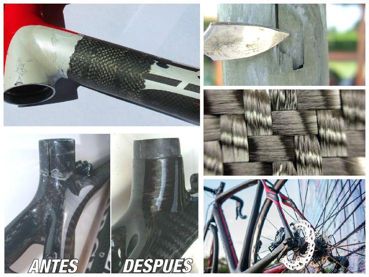 Resumen de las reparaciones de piezas en fibra de carbono. Para mayor información, visita: www.carbonlabstore.com