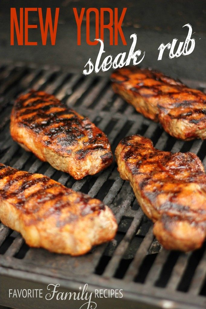 New York Steak Rub - These steaks were amazing!  Find all our yummy pins at https://www.pinterest.com/favfamilyrecipz/