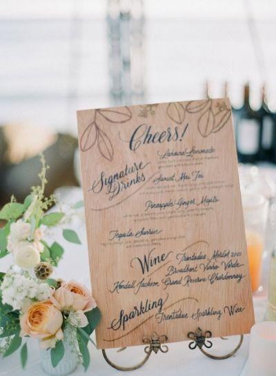 とことんおしゃれに海外風*ゲストテーブルに置く可愛い『ドリンクメニュー』デザインまとめ♡にて紹介している画像