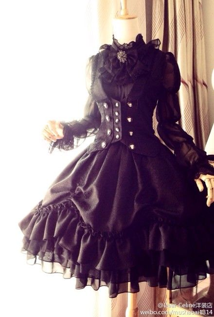 black corset lolita coordinate from Dear Celine