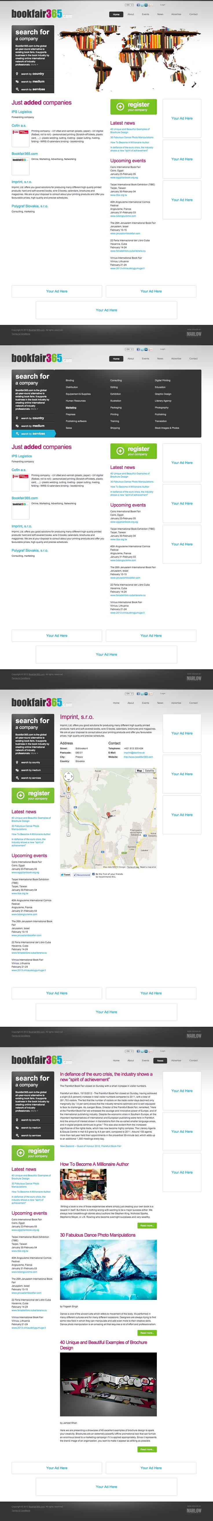 Web design - Bookfair365.com