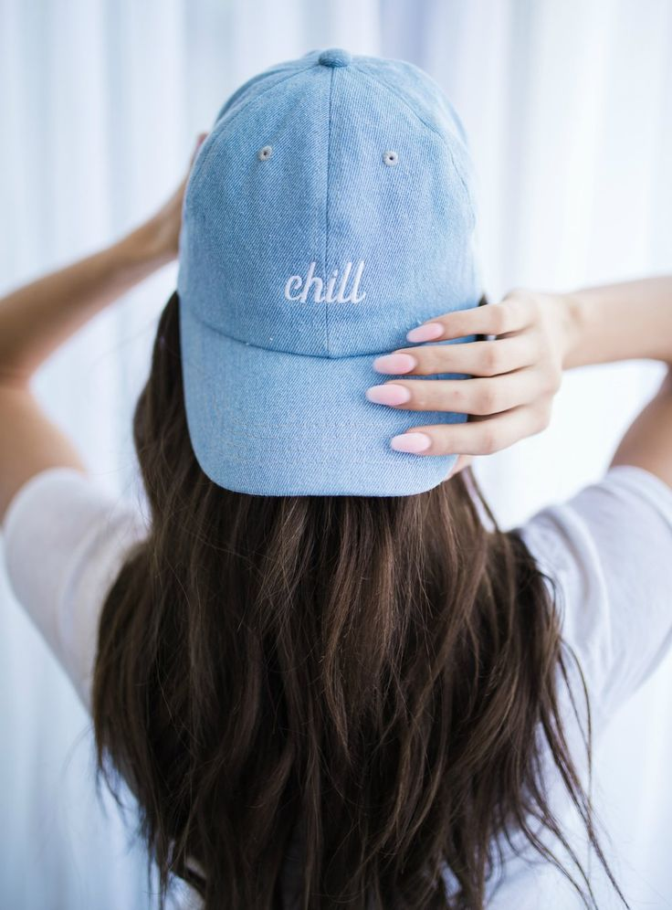 Embroidered Hat. Chill Hat.